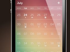 Dribbble - day - the most beautiful calendar app for your iPhone by Toby Negele