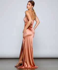 Satin Formal Dress, Formal Dress Shops, Formal Gowns, Satin Dresses, Windsor Dresses, Short Styles, Bridesmaid Dresses, Wedding Dresses, Two Piece Dress