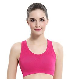 86442f3dcf BAOMOSI Women s 5Packs Sports Bras Seamless Comfort Workout Gym Yoga Bra M  (FBA) at Amazon Women s Clothing store
