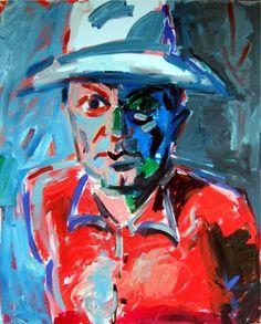 Rainer Fetting Rainer Fetting, Neo Expressionism, Art Forms, All Art, Find Art, Contemporary Art, Street Art, Sculpture, Portrait