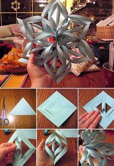 Christmas Paper Snowflake diy crafts christmas easy crafts diy ideas christmas…