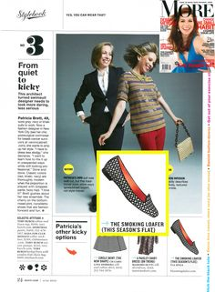 Via Spiga's Edina flat in the June issue of @Ana G. C. Magazine #smoking slippers #metallic shoes #flat shoes