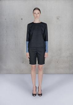 Wool and Silk Blouse by Uplus on Etsy, $220.00 #handmade #wool #silk #modern