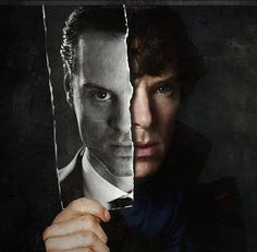 I. Am. You. Sherlock and Moriarty. Sherlock and Dr. John Watson. Sherlock (BBC). Benedict Cumberbatch and Andrew Scott.