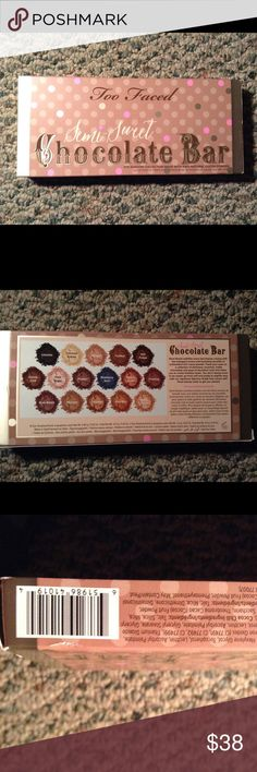 Too Fqced Semi-Sweet Chocolate Bar Palette The second edition of the original Too Faced Chocolate Bar palette, came from Ulta , new and unused. This product has cocoa infused eyeshadow colors that actually smell like real chocolate. Too Faced Makeup Eyeshadow