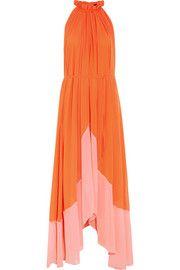 Iris crinkled-georgette halterneck maxi dress