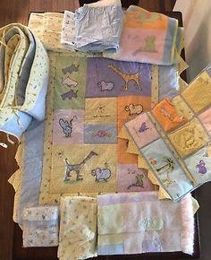 1604e190c962 RARE 1999/2000 Carter's Yoko Ono John Lennon Baby Crib Bedding Sheets Set  Yellow