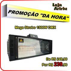 OFERTA! Mega Strobo 1500W DMX: De R$ 249,90 Por apenas R$ 239,90 em http://www.aririu.com.br/mega-strobo-1500w-dmx-512-220v-funcao-dip-lampada-estrobo-94xJM