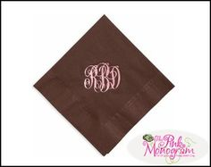 Personalized paper napkins and hand towels