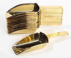 Gold Candy Scoops, 12 pack for $9.99 http://factorydirectcraft.com/catalog/products/1531_1788-26325-small_metallic_gold_plastic_candy_scoops_package_of_12.html?utm_source=googlep_medium=gpfeed_campaign=gpfeed=CJ7bp4y9zbgCFcqe4AodiHoAgw