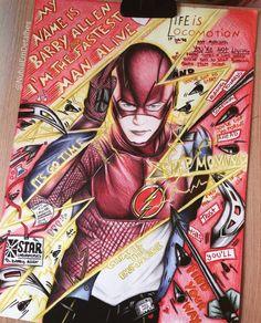 The Flash fanart by @NubiaEmDetalhes