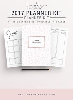2017 Planner, 2017 Organizer, 2017 Agenda, Printable Planner, 2017 Life Planner, Bullet Journal Printable, Dot Grid, Yearly Planner, Monthly by IndigoPrintables on Etsy https://www.etsy.com/listing/464871426/2017-planner-2017-organizer-2017-agenda