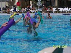 Mom doing water aerobics in Cancun     Hard work pays off! #workout #fitness #exercise http://beckysblog.net/exercising-like-a-dog/