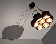 Cool modern pendant lamp made of IKEA food bowls. Light Well, Cheap Pendant Lights, Food Bowl, Wood Glass, Ikea Furniture, Diy Accessories, Pendant Lamp, Decorating Tips, Design Trends