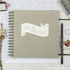 Libro de firmas - Mr & Mrs #guestbook #married #wedding