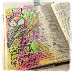Illustrated faith or Journaling bible entry for the book of psalm for illustrated faith (#illustratedfaith) on Instagram check out the rest under Fischtales on instagram Psalm 116: 1&2