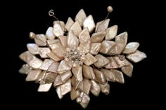 bridal Mother of Pearl brooch