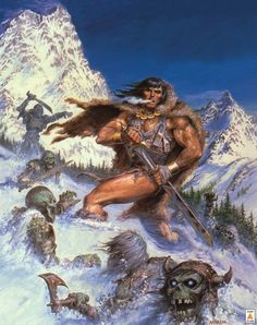 The Marvel Comics of the — 1985 - Anatomy of a Cover - Savage Sword of Conan. Frank Frazetta, Boris Vallejo, Fantasy World, Dark Fantasy, Fantasy Rpg, Conan Der Barbar, Conan The Destroyer, Conan The Conqueror, Marvel Comics