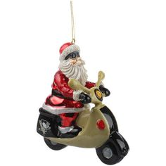 Pittsburgh Penguins Santa Gets There Scooter Ornament - Fanatics.com