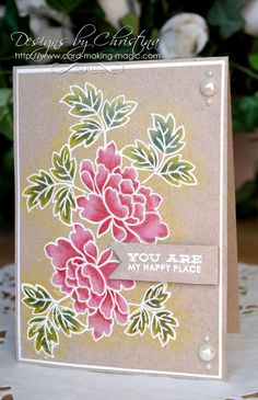 my happy place card by Christina Griffiths