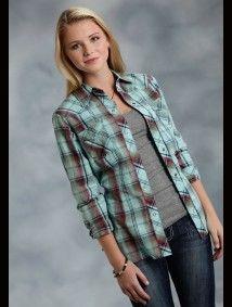 "Womens Cowgirl Shirt - ""Mountain Laurel"""