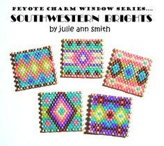 PEYOTE CHARM WINDOWS Southwestern Brights Series   Bead-Patterns