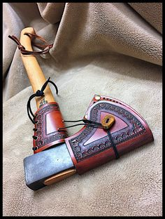 Genuine Norlund Tomahawk with Custom Leather by John Black