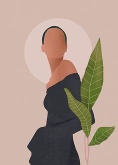 Tropical Girl 8 Art Print by ThingDesign - X-Small Tropical Girl, Abstract Line Art, Afro Art, Minimalist Art, Aesthetic Art, Female Art, Framed Art Prints, Art Girl, Art Drawings