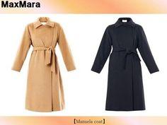 セレブ多数愛用★MaxMara★Manuelaコート 全2色 首元まで閉められるデザインとロング丈で保温効果バッチリのアイテム。素材はラクダの毛。ゆったり したシルエットになっています。