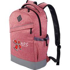 Melange material even in copmuter backpacks now.. very trendy...