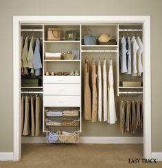 "We're giving away an ""Easy Track DIY Closet Organization System""--click through to enter! #giveaway"