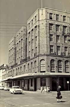 Great Northern Hotel on the corner of Bolton and Scott Streets, opposite the Newcastle Railway Station. Vinco series no. 27.  This image was scanned from a photograph in the Newcastle and Hunter District Historical Society archives which are held by Cultural Collections at the University of Newcastle, Australia.  If you have any information about this photograph, please contact us.  Please contact us if you are the subject of the image, or know the subject of the image, and have cultural or…