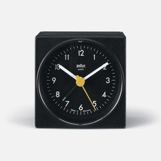 Industrial design doesn't get much sweeter than the Braun AB1 travel alarm clock, launched in 1971 and designed by Dietrich Lubs under the directorship of Dieter Rams.    It keeps accurate time and wakes you up in the morning — no more no less.    Criminally, the last batch was produced in 2009.