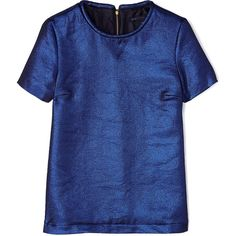 Marc by Marc Jacobs Blue Verushka Lamé T-shirt ❤ liked on Polyvore