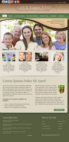 #sesamewebdesign #psds #dental #responsive #curvy #texture #gradient #brown #green #serif #sans #traditional #contained #top-nav