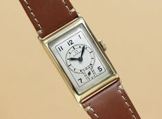 Omega Rectangle 14KYG case Cal.T17 C.1930'S