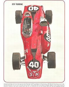 Indy 500  STP  Turbine print 8 x 10 1967