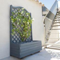Jardinera jardinera de madera con celos a ref 16708160 - Leroy merlin jardiniere ...