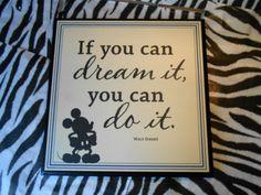 Hallmark Disney Walt Disney If YOU CAN Dream Plaque 8 X 8 inch