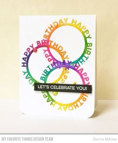 Image result for mft happy birthday circle frame die cut cards