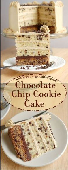 CHOCOLATE CHIP COOKIE CAKE | COOK From Home