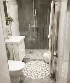 Is your home in need of a bathroom remodel? Give your bathroom design a boost with a little planning and our inspirational Most Popular Small Bathroom Remodel Ideas in 2018 Upstairs Bathrooms, Downstairs Bathroom, Laundry In Bathroom, Bathroom Renos, Dyi Bathroom, Small Basement Bathroom, Small Bathroom Remodeling, Small Bathroom Ideas, Small Basement Remodel