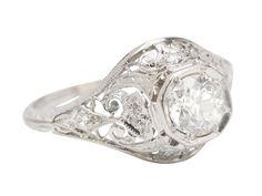A Treat of a Diamond Platinum Ring - The Three Graces
