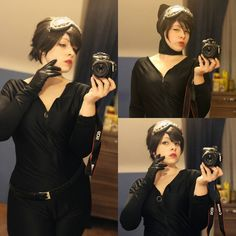 Did a short makeup test for #catwoman #selinakyle cause I really like her in the new comics ♡ You think she would fit me? #cosplay #catwomancosplay #batman #dccomics #makeuptest #cosplaytest #gothamcitysirens #justselfie #cat  Vivy Cosplay