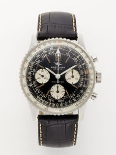 1960's Breitling Sterling Silver Navitimer Watch.