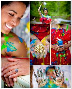 Trash the Dress: Lady in Red Paint and Confetti | Done Brilliantly