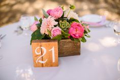 wood block table number ideas http://www.weddingchicks.com/2013/09/06/spanish-oaks-ranch/