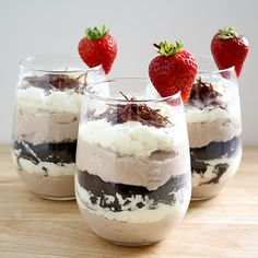 Tiramisu Trifles - Love that they are served individually in stemless wineglasses!