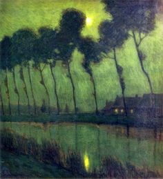 Le Prince Lointain: Charles Warren Eaton (1857–1937), Bruges Moonlight...