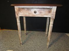 Vintage Rustic  End Table with oval top by OverboardStudio on Etsy, $135.00